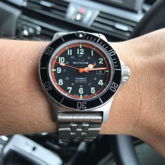 Glycine Combat Sub Auto 42mm, Men's Fashion, Watches on