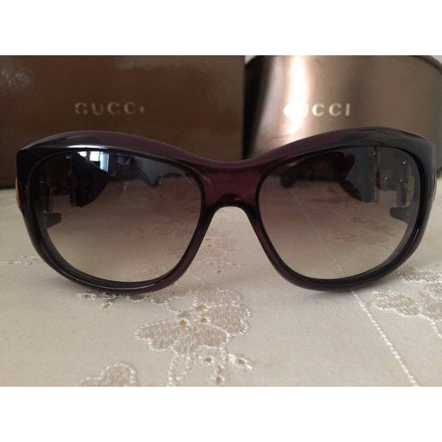降價囉!極新GUCCI正品公司貨二手竹節款太陽眼鏡