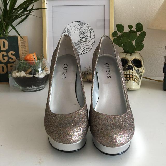 Guess shinny high heels