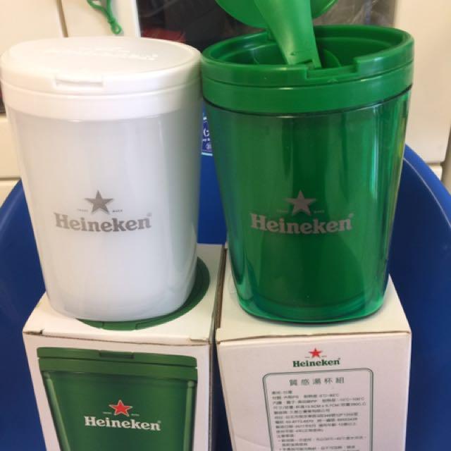 全新海尼根Heineken質感湯杯組