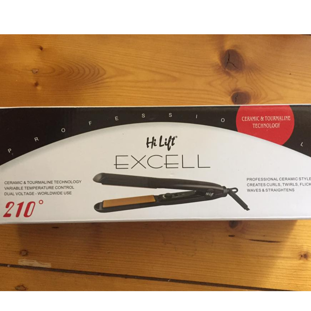 Hi Lift Excell Hair Straightener black - New In Box