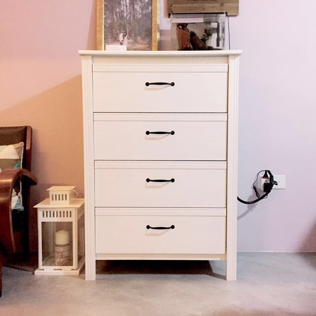 best website 39955 d38d5 IKEA BRUSALI // Chest of 4 Drawers, White, Furniture ...
