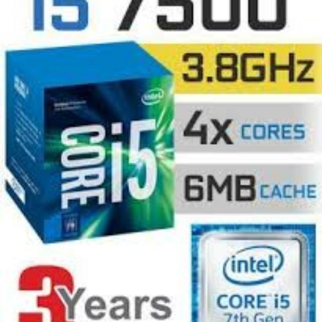Intel I5-7500 processor + biostar h110mhc motherboard