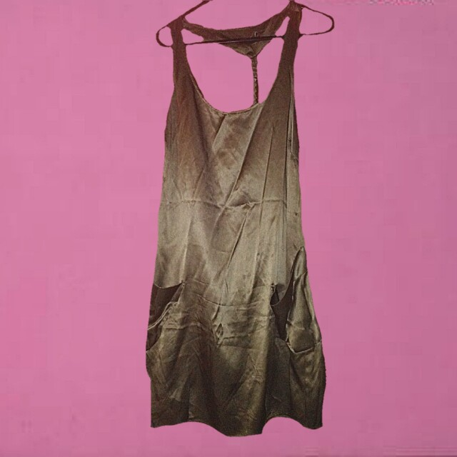 Kahki slip dress new small