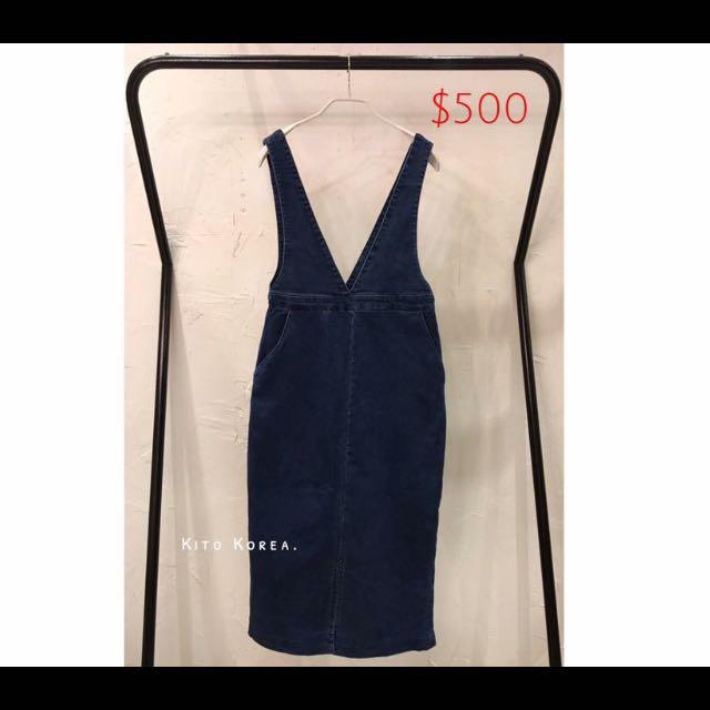 Kaki購入之大V牛仔洋裝