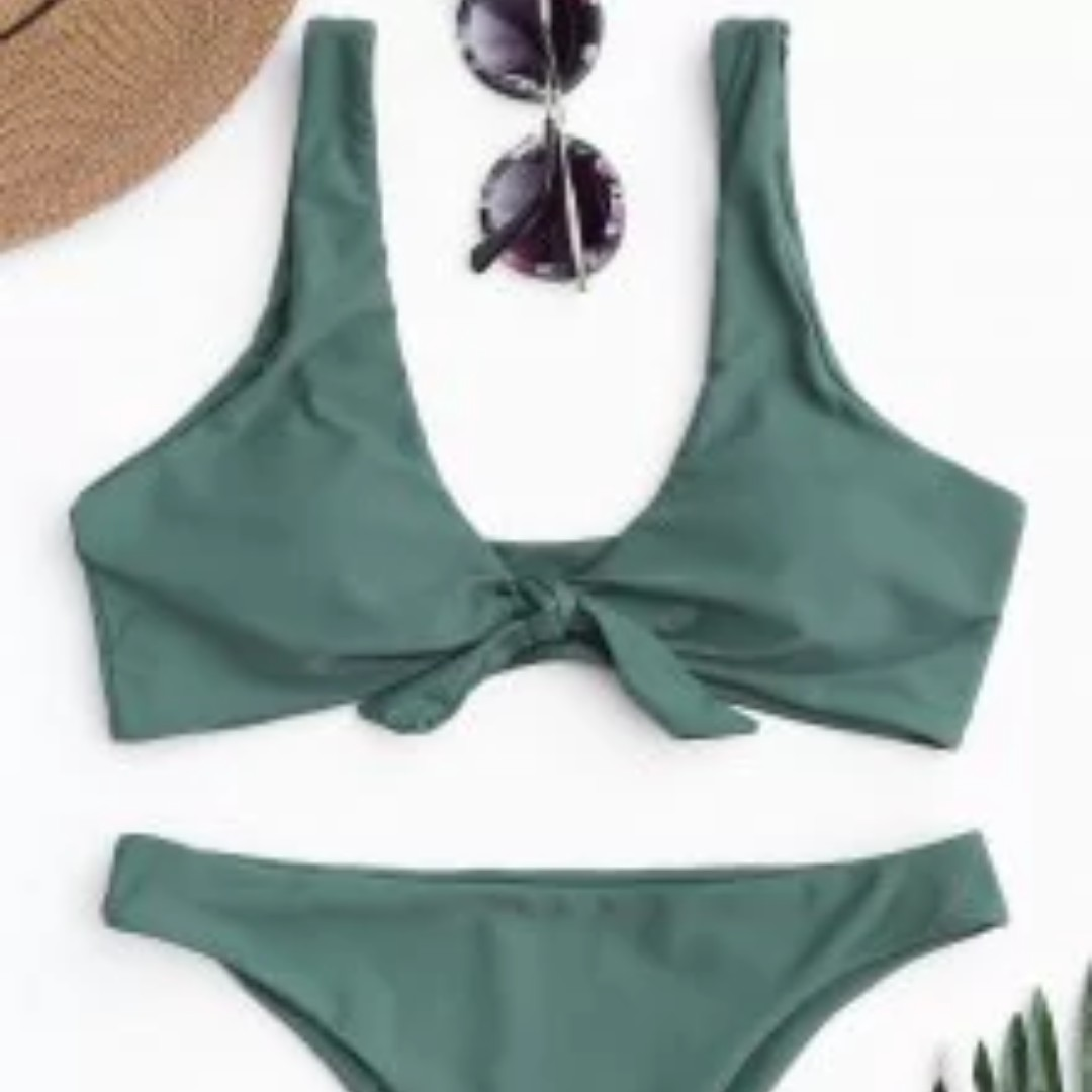 Knotted Scoop Bikini Size S