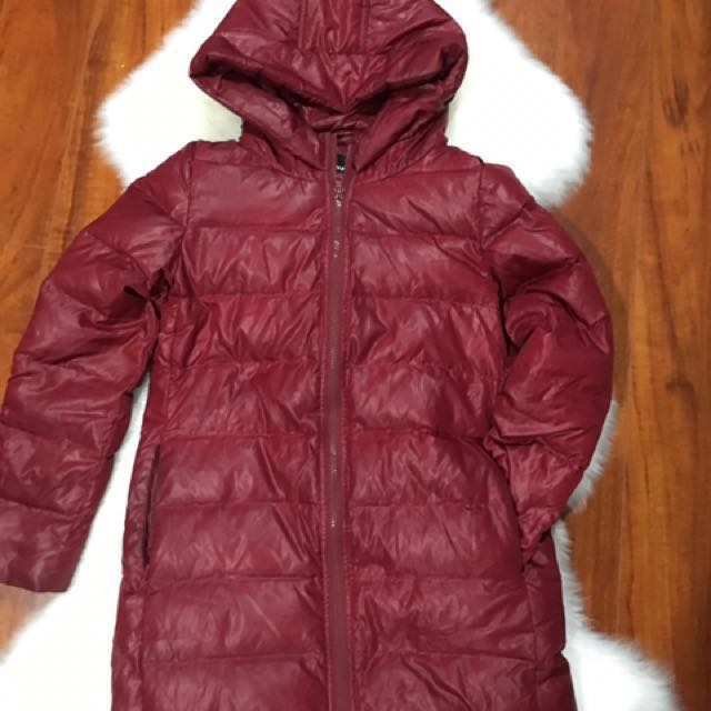 Light Down Jacket like Uniqlo Aritzia Size XS Nice Burgundy Color