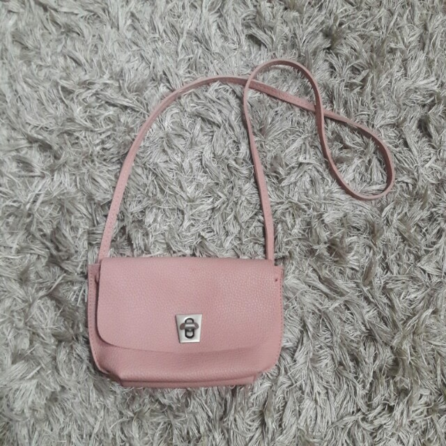 little pink sling bag