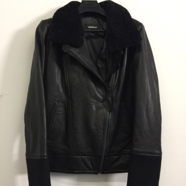 Mackage Shearling trim and leather jacket
