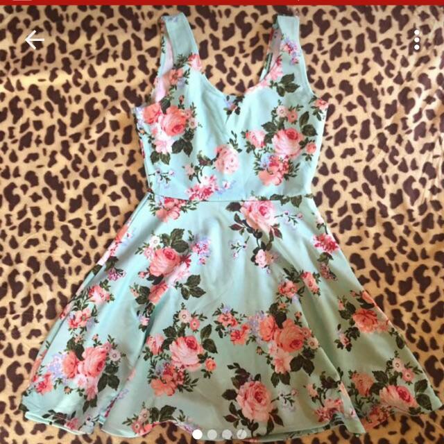 Mint green derek heart dress