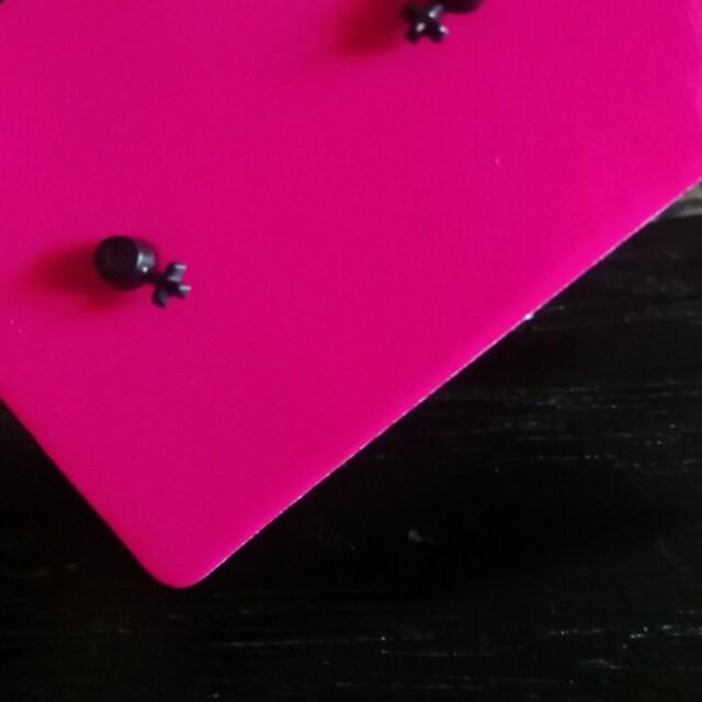 Nose, earrings piercing black  plastic $5 pair