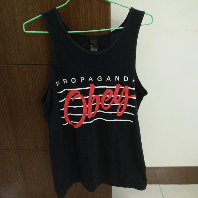OBEY 紅色Logo背心 S號