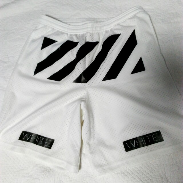 Off white jersey shorts