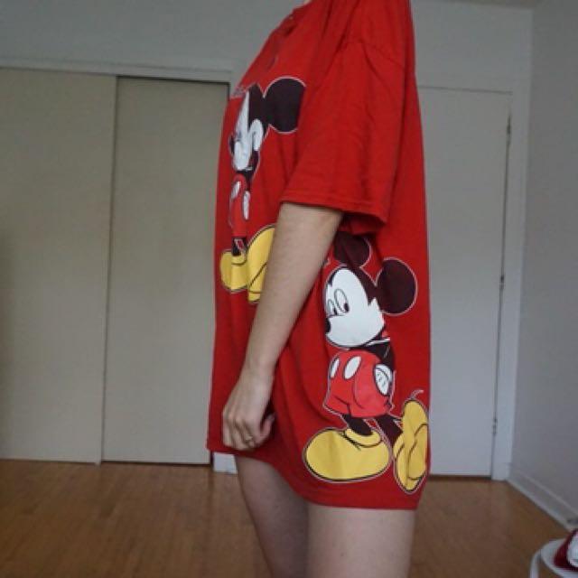 Oversized Mickey Mouse tshirt dress