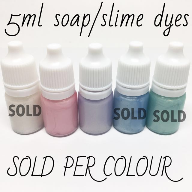 *OVERSTOCK Pastel Pearl Soap Slime Dyes   5ml Glycerin Mica Colourants  Colorants Liquid Pigment