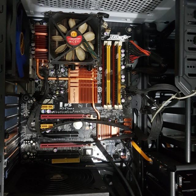 Paket mobo ECS black series x48 - core 2 quad - ram 2x2gb - fan Thermaltake