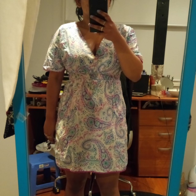 Pattern beah cover up dress