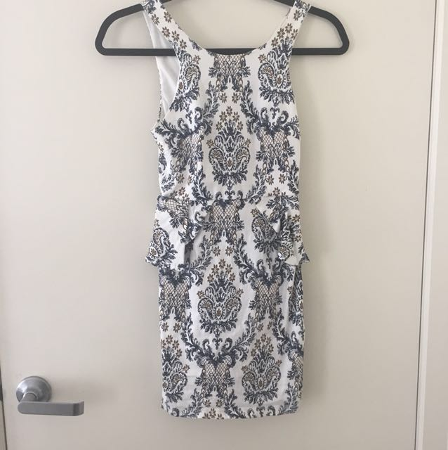 Patterned party/cocktail dress