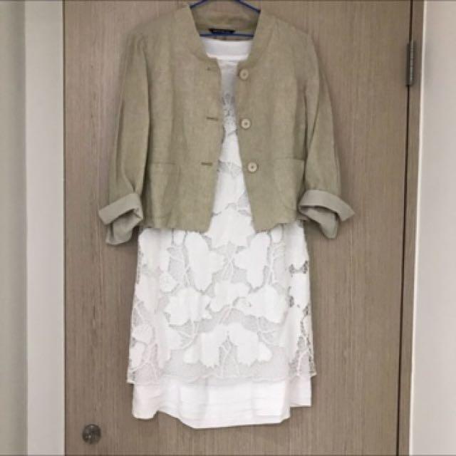 PennyBlack棉麻質七分袖短外套M
