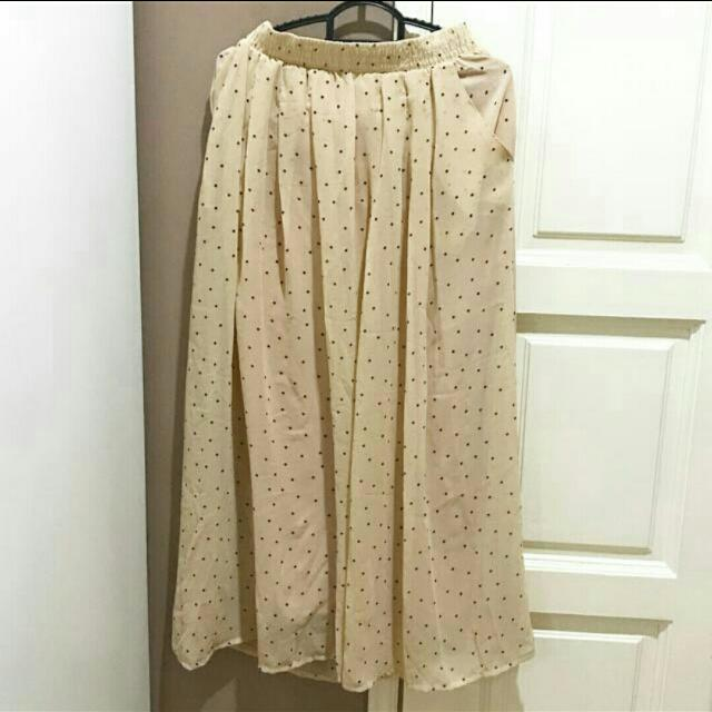 Poplook Polka Dot Maxi Skirt  #midnovember50