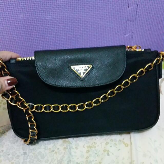 ... bag f494d 6484d greece spain authentic prada tessuto saffiano leather  chain handle crossbody luxury bags wallets on carousell e8e5f ... 25ca623a789b7