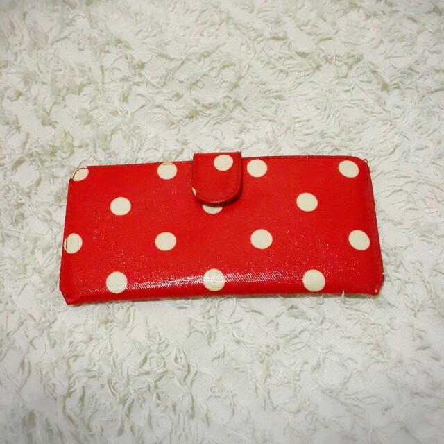 💞Red polka dot wallet