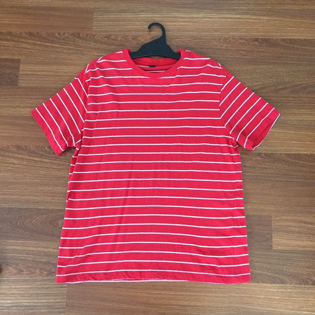 Red/ White Striped Tee
