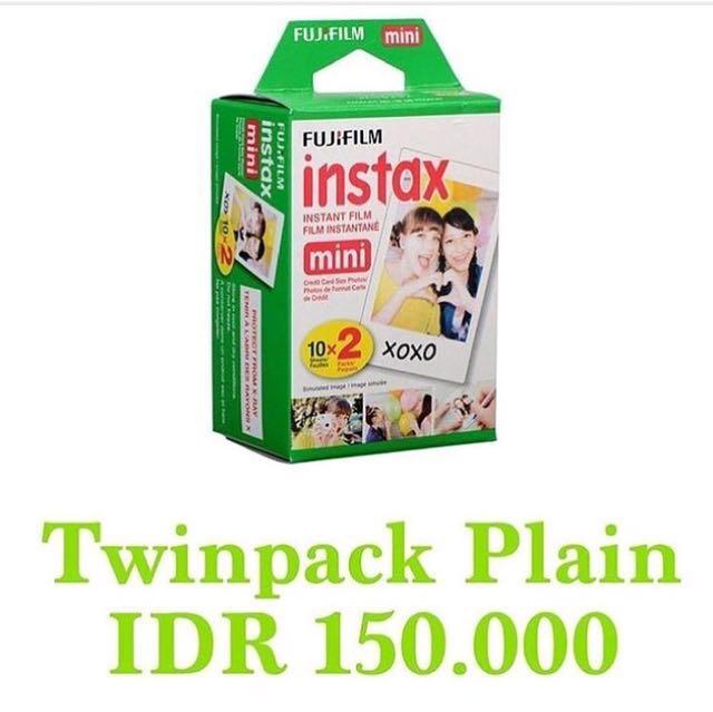 Refill Instax Twinpack Plain 20 Sheet