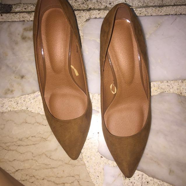 REPRICED Brown Suede Heels From Japan