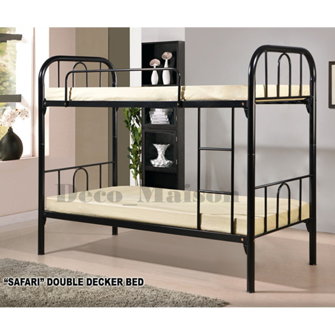 SAFARI Metal Double Deck, Home & Furniture, Furniture, Mattresses ...