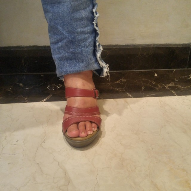 Sandal wedges Scholl size 39