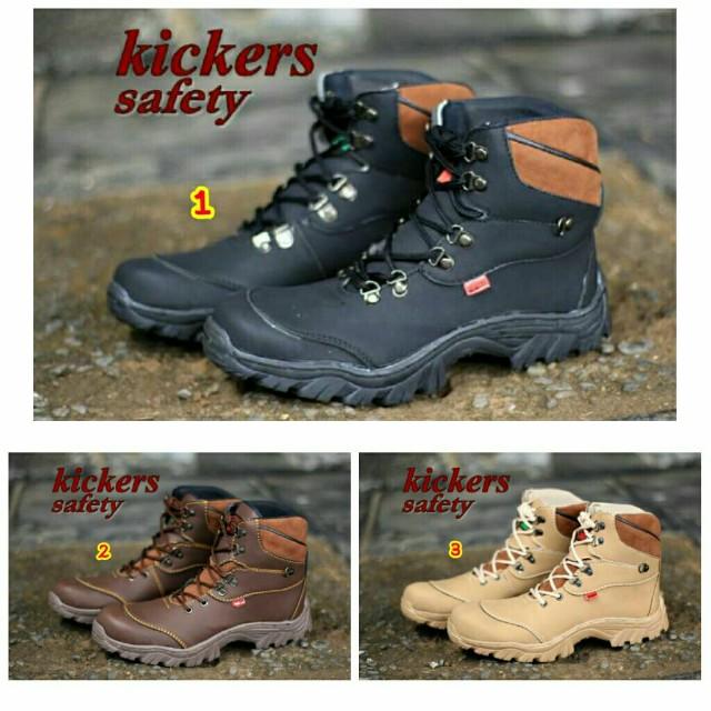 Sepatu boots pria safety cowok kulit terbaru 2017 murah trend branded a4c0181894