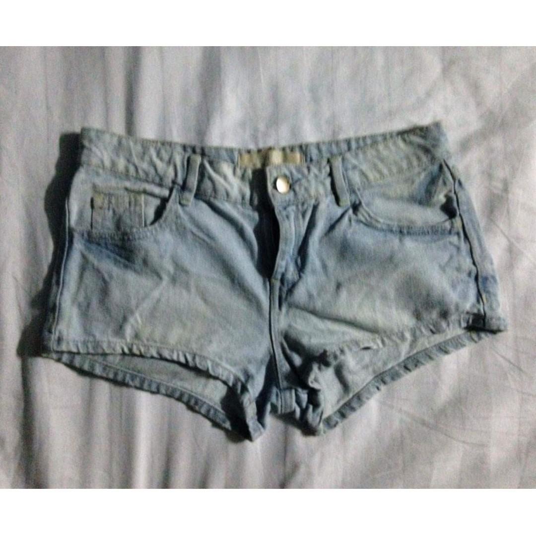 sexy faded denim shorts