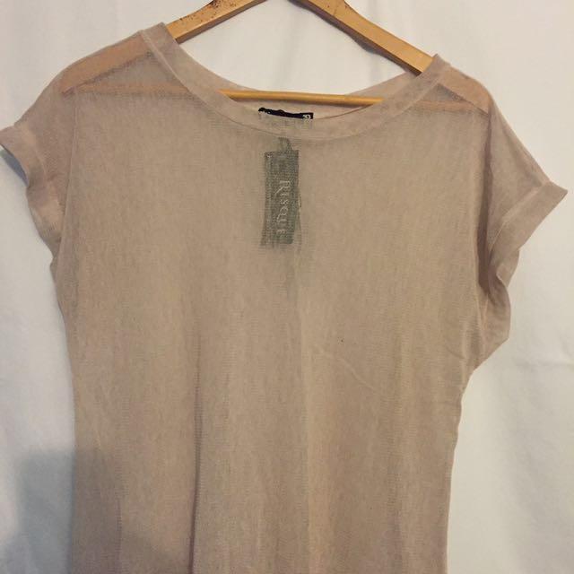 Sheer light link tshirt style dress
