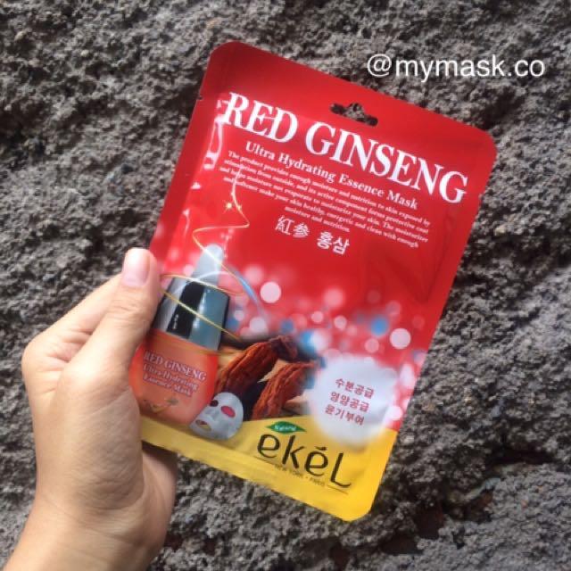 Sheet mask red ginseng