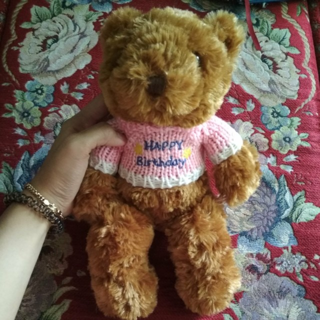Singapore Shasha Teddy Bear Happy Birthday