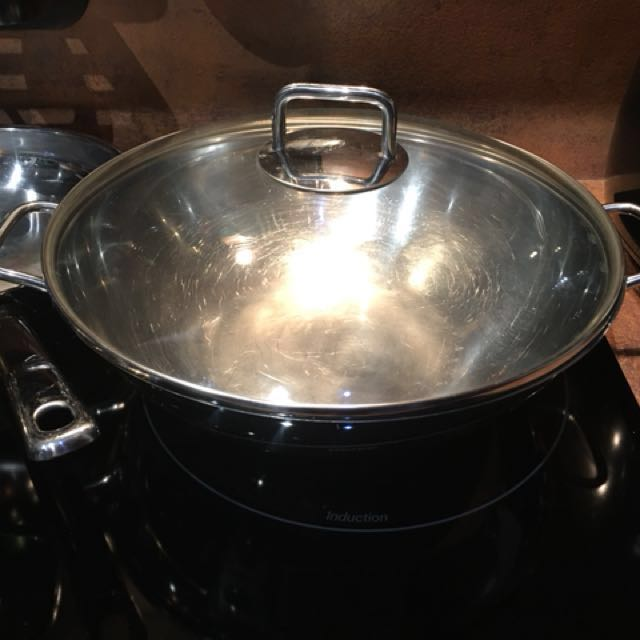 Stainless Steel Wok 32cm Wmf Wok With Lid Home Appliances On