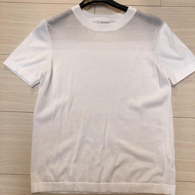 (二手)stephanedou竇騰璜薄針織白色上衣