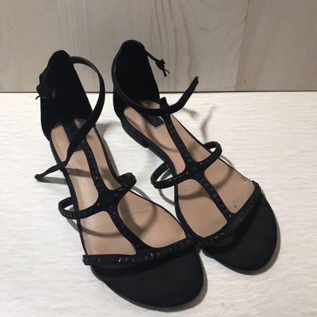 Stradivarius Black Strap Sandal