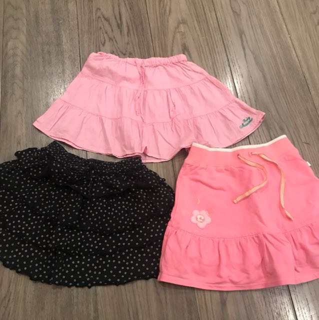 Take all 3 skirts for girls aged 6-8 (Baby Mossimo; Peppermint; Genuine Kids