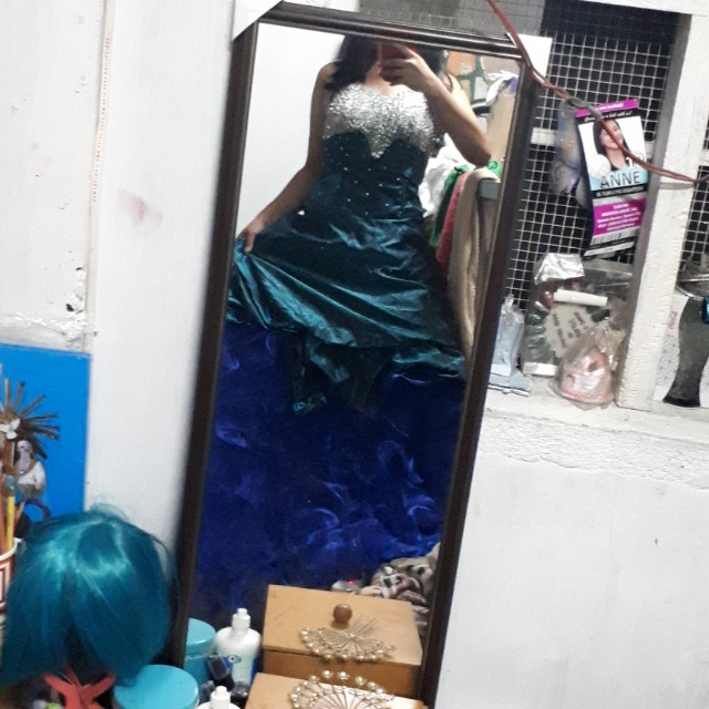 Teal Blue Ball Gown