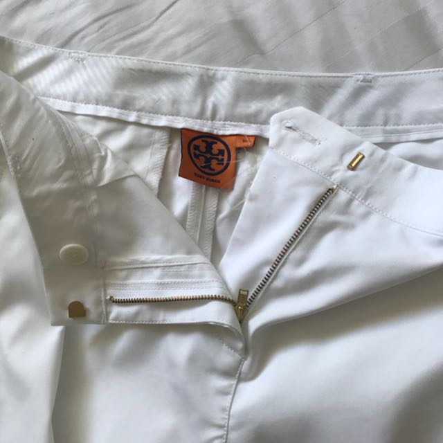Tory Burch white cigarette pants