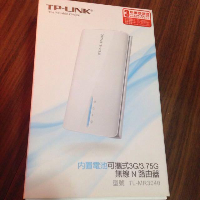 TP-LINK  內建電池可攜式3G/3.7G無線N路由器