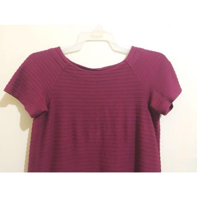 Uniqlo Shift Dress Wine Red (Small)