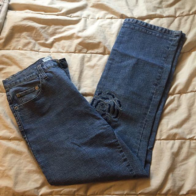 Vintage embroidered pants