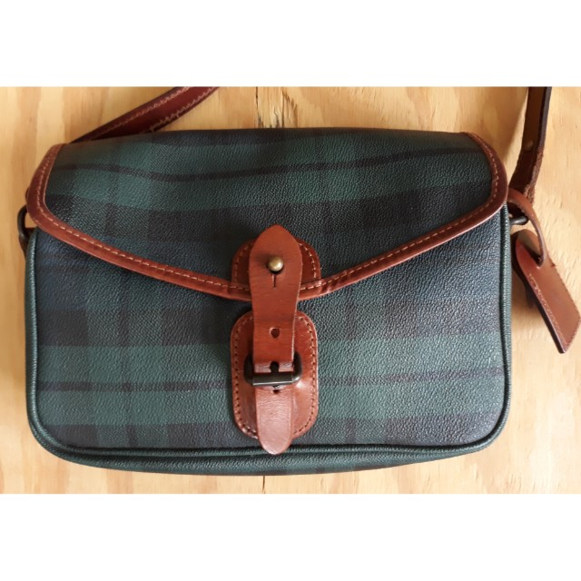 a2a13b624f37 Vintage Polo Ralph Lauren Green Plaid Bag