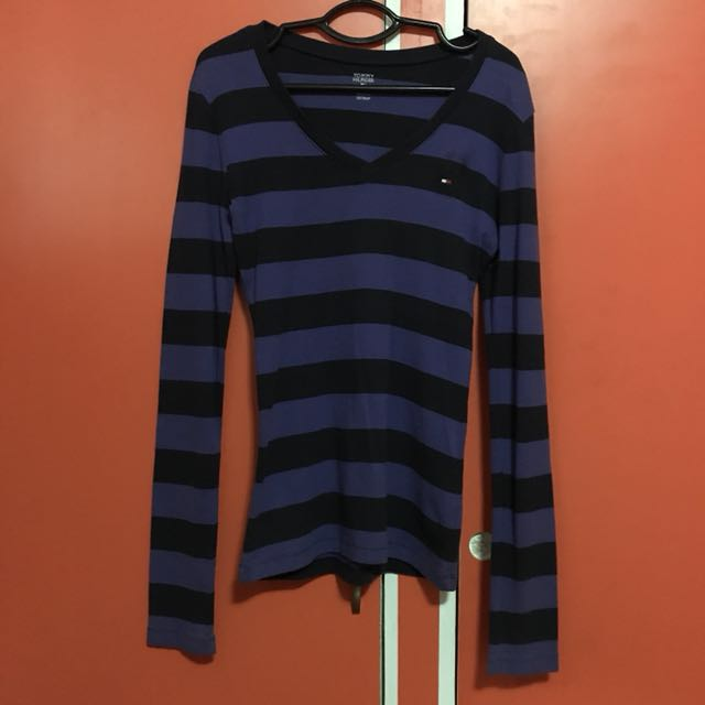 Violet & Dark Violet Striped Long Sleeves