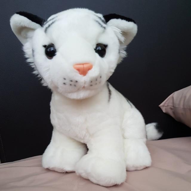 White Tiger Plush Soft Stuffed Toy Offical Singapore Zoo Toys