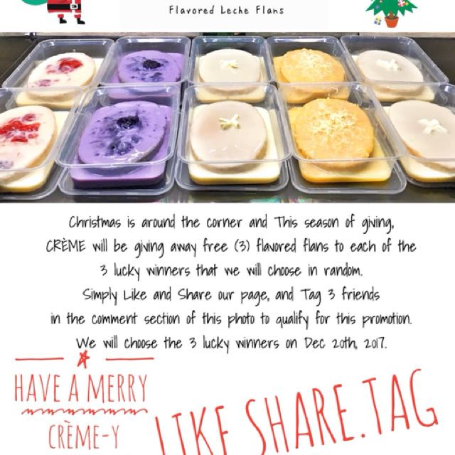 WIN 3 TUBS OF FLAVORED LECHE FLANS