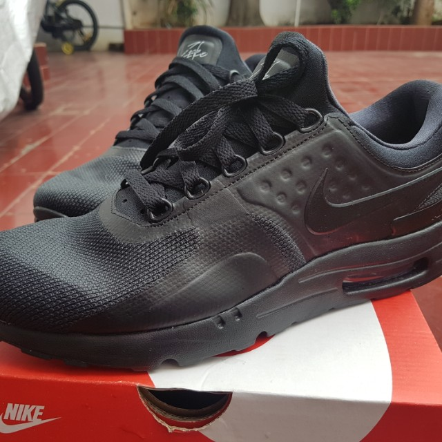 the best attitude 37f77 58522 jual nike air max zero WTS Jual Nike Air Max Zero Essential All Black 2017  Original Size 43, ...